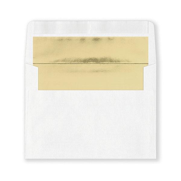 Fastick White Gold-Lined Envelopes