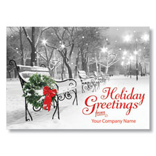 Serene Season's Greetings Holiday Card