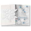 Exquisite Snowflake Gatefold Holiday Card