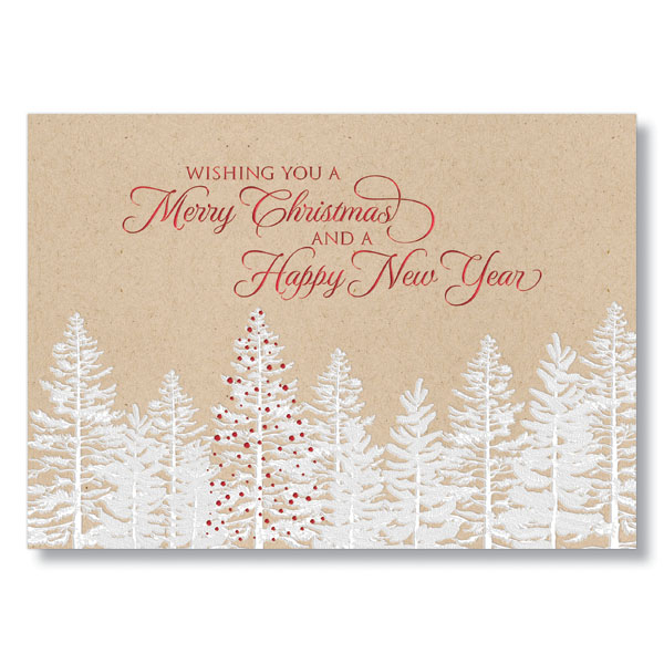 White Forest Wishes Holiday Card