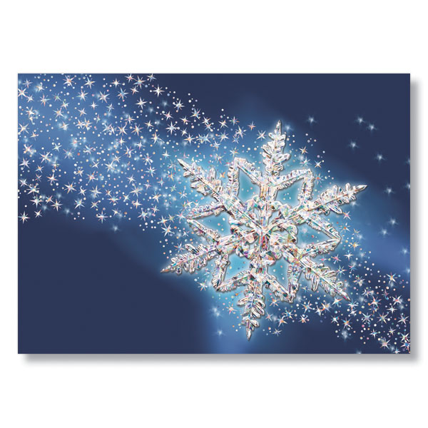 Picture of Spectacular Snowflake Holiday Card