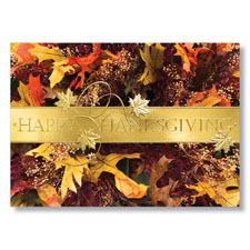 Fall Foliage Holiday Card