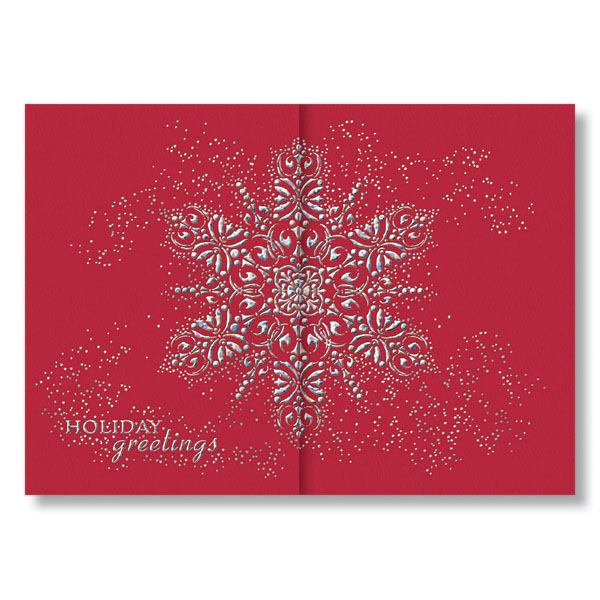 Picture of Iridescent Snowflake Gatefold Holiday Card
