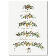 Abstract Tree Holiday Card