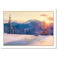 All is Calm Scene Holiday Card