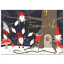 Gnome Teamwork Holiday Card