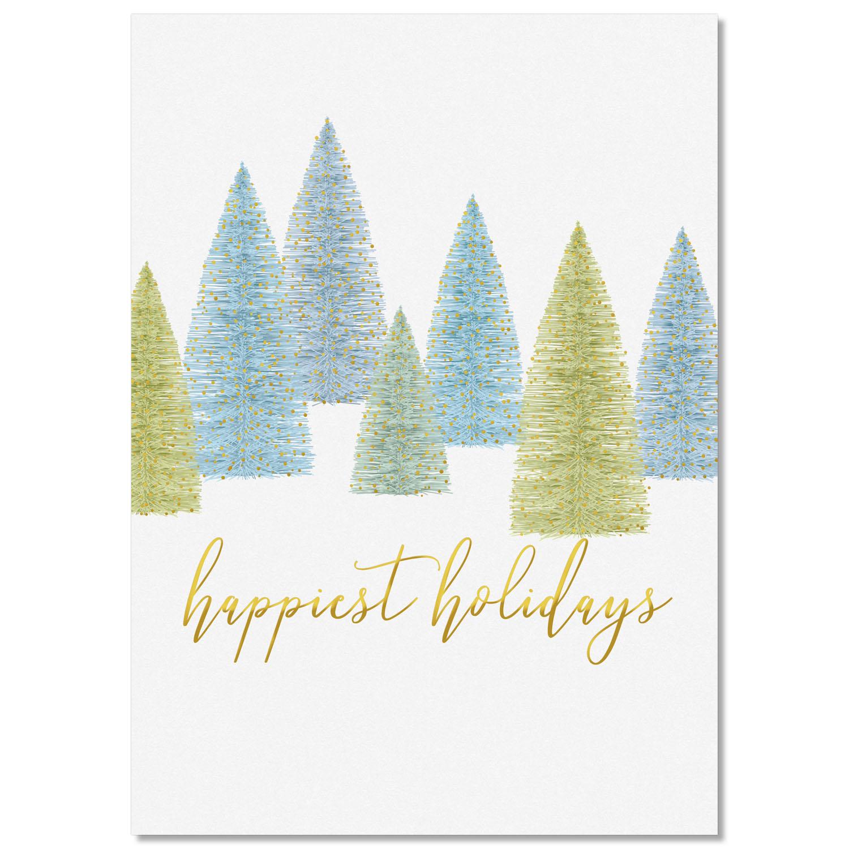 Tree line Wrap Holiday Card