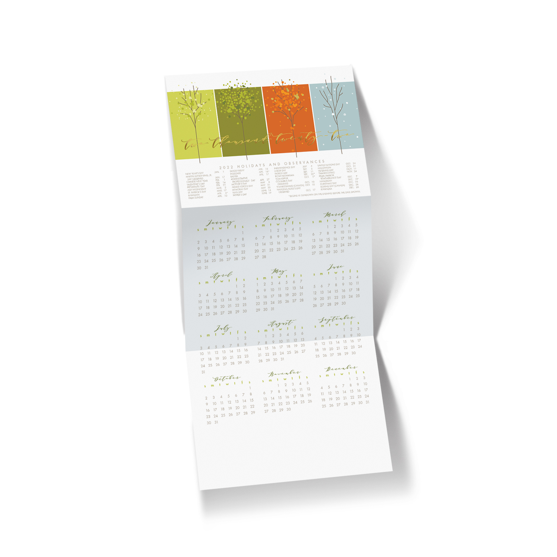 2022 Four Season Calendar Holiday Card