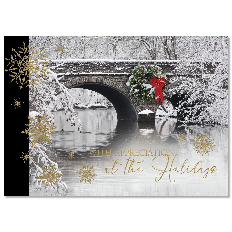 Winter Bridge Appreciation Holiday Card