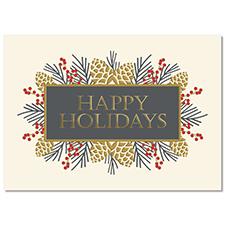 Pinecone Greetings Holiday Card