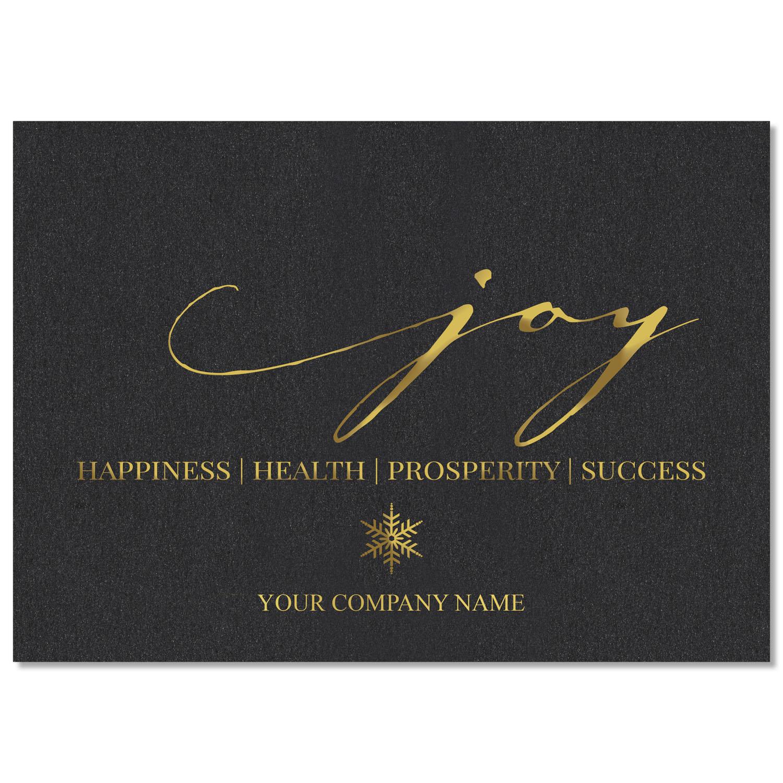 Joy in Script Holiday Card
