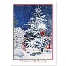 Winter Park Scene Holiday Card