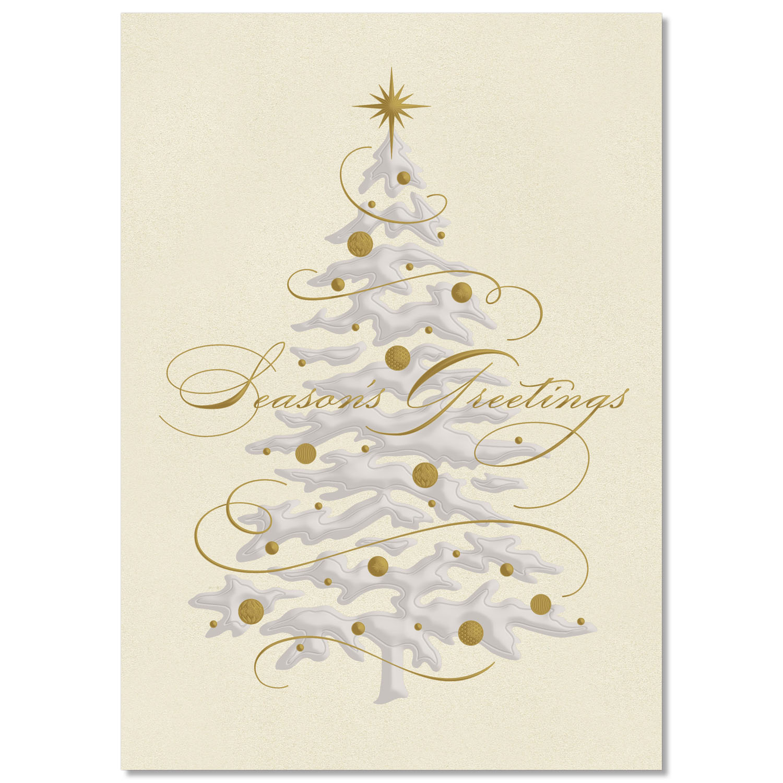 Elegant Holiday Tree Holiday Card