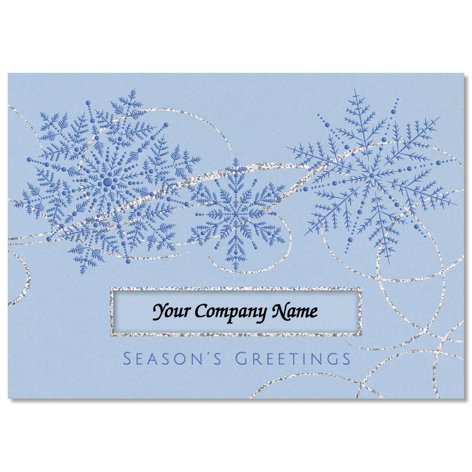 Snowflakes and Swirls Holiday Card