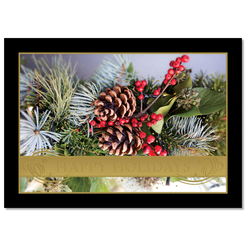 Holiday Garland Holiday Card