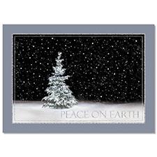 Winter Night Holiday Card