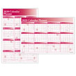 Wall Yearly Calendar Planner Burgundy Horizontal Vertical