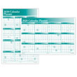 Wall Yearly Calendar Planner Green Horizontal Vertical