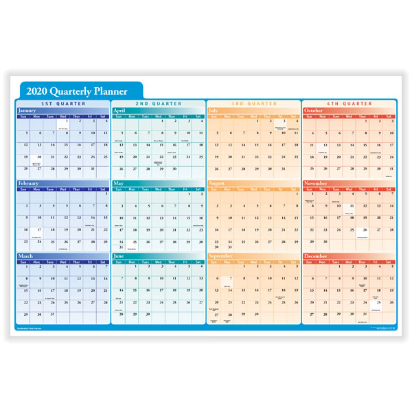 2020 Quarterly Planner Horizontal