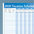 Picture of 36 x 24 Full Vacation Schedule