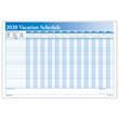 Full Yearly Vacation Scheduler Blue