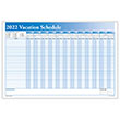 Yearly Vacation Scheduler Blue