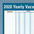 Picture of 36 x 24 Yearly Vacation Schedule