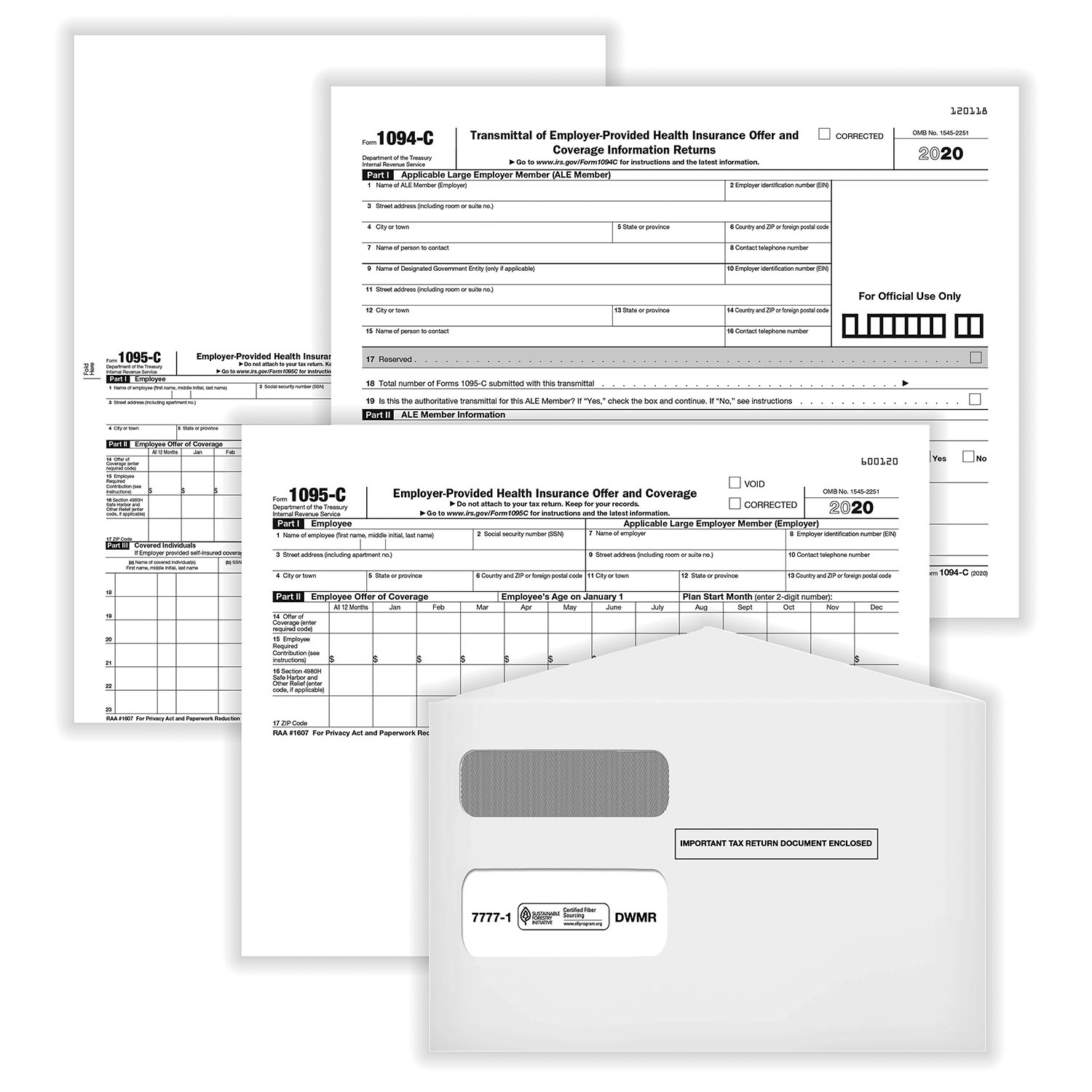 Picture of Affordable Care Act Forms 1095-C Kit (100 PK)
