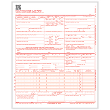 Imprinted CMS-1500 Forms - Laser - Pack of 2500