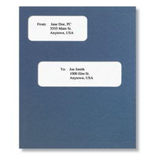 Offset Window Folder (Blue)