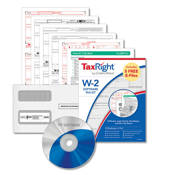 W-2 Software Tax Kit 4-Part Forms