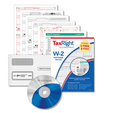 Picture of W-2 Tax Forms Laser Kit and Software