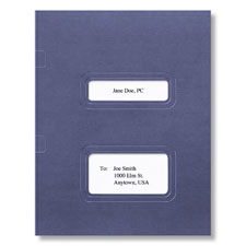 Stacked Window Folder (Dark Blue)