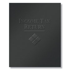 Embossed Tax Filing Folder