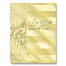Income Tax Return Folder (Gold)