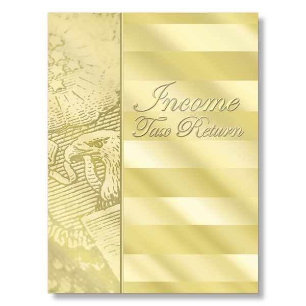 Income Tax Return Folder (Gold)