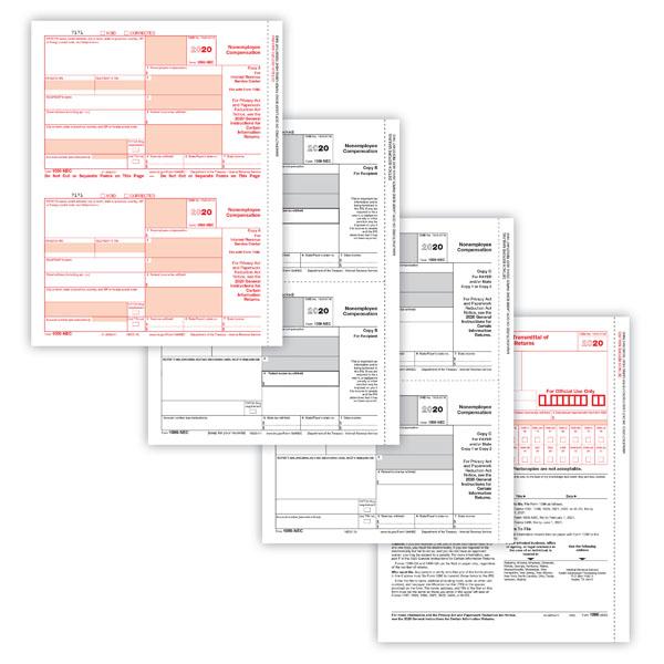 1099-NEC Laser Forms Set