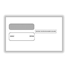 3-UP 1099 Double Window Envelope