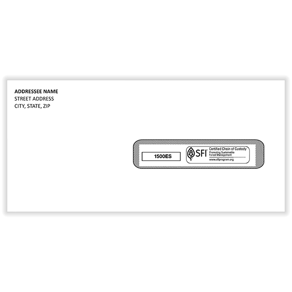 Picture of Imprinted CMS-1500  Window Envelopes - #10 - Self-Sealed