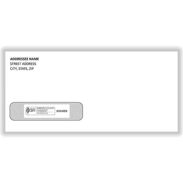 Picture of Imprinted ADA Claim Forms Window Envelopes - #10