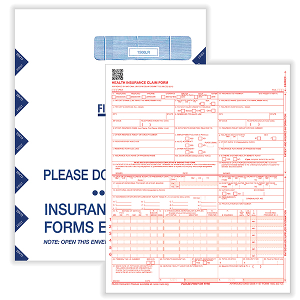 Picture of CMS-1500 Forms and Catalog Envelopes