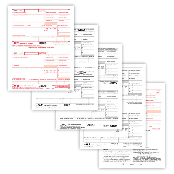 Laser 2-Up W-2 Form — 6-Part (50 pack)