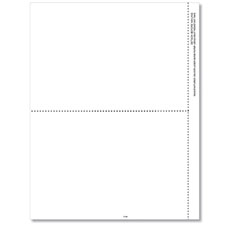 Picture of 1099-R Laser Blank 2-Up with 1 Vertical & 1 Center Perforation (100 Pack)