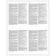 Picture of W-2 4-Up Blank with 1 Vertical & 1 Horizontal Perforation (100 Pack)