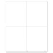 W-2 4-Up Blank with 1 Vertical & 1 Horizontal Perforation with Backer Instructions (100 Pack)