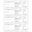 Picture of W-2 4-Up Laser Horizontal Employer Copy 1, D (100 Pack)