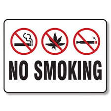 No smoking cigarettes marijuana e cigarettes