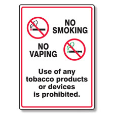 Picture of No Smoking/Vaping/Use of Any Tobacco Products or Devices Si