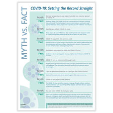 Picture of Downloadable COVID-19 Fact vs Myth Poster