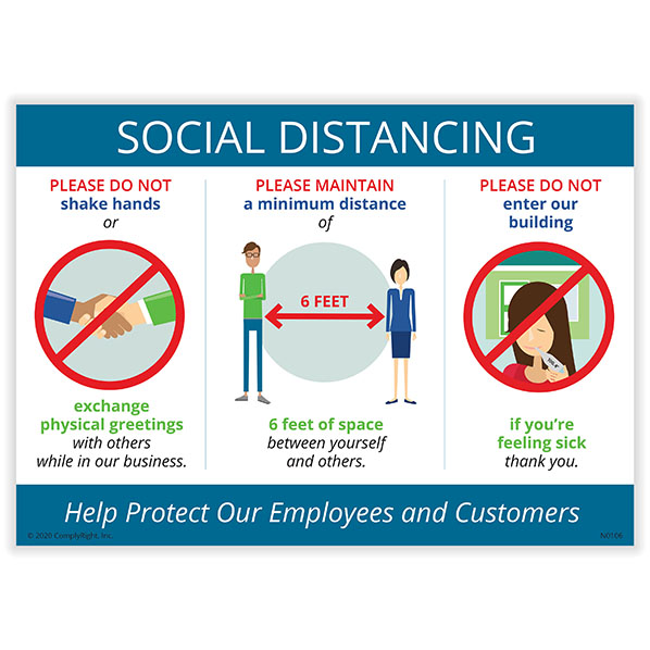 Workplace Social Distancing Poster